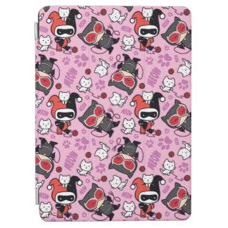 Chibi Catwoman, Harley Quinn, & Kittens Pattern iPad Air Cover