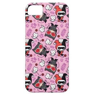 Chibi Catwoman, Harley Quinn, & Kittens Pattern iPhone 5 Case