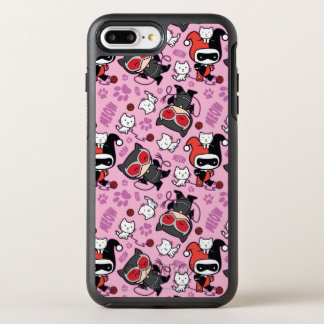 Chibi Catwoman, Harley Quinn, & Kittens Pattern OtterBox Symmetry iPhone 7 Plus Case
