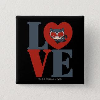 Chibi Catwoman LOVE 2 Inch Square Button