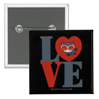 Chibi Catwoman LOVE 2 Inch Square Button