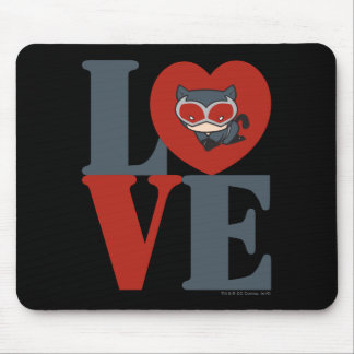 Chibi Catwoman LOVE Mouse Pad