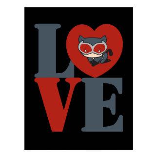 Chibi Catwoman LOVE Postcard