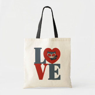 Chibi Catwoman LOVE Tote Bag