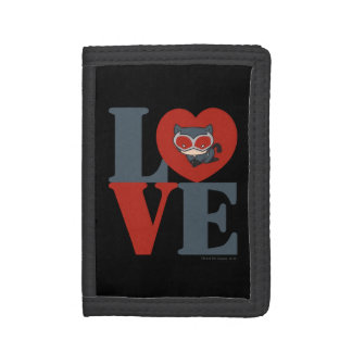 Chibi Catwoman LOVE Trifold Wallet