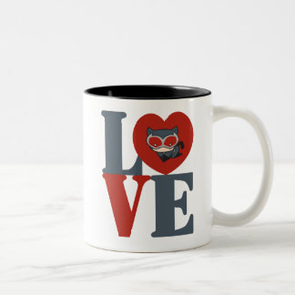 Chibi Catwoman LOVE Two-Tone Coffee Mug