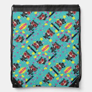Chibi Catwoman Pattern Drawstring Bag