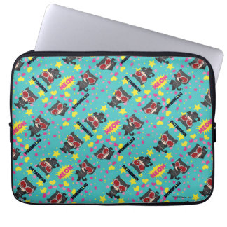 Chibi Catwoman Pattern Laptop Sleeve