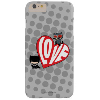 Chibi Catwoman Pounce on Batman Barely There iPhone 6 Plus Case