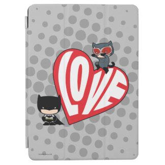 Chibi Catwoman Pounce on Batman iPad Air Cover