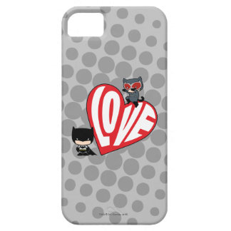 Chibi Catwoman Pounce on Batman iPhone 5 Cover
