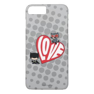 Chibi Catwoman Pounce on Batman iPhone 8 Plus/7 Plus Case