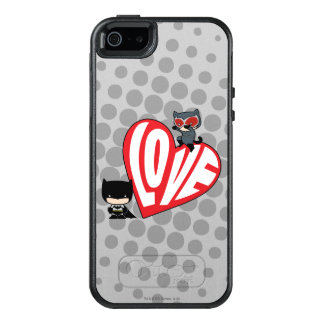 Chibi Catwoman Pounce on Batman OtterBox iPhone 5/5s/SE Case