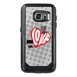 Chibi Catwoman Pounce on Batman OtterBox Samsung Galaxy S7 Case