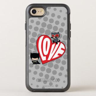 Chibi Catwoman Pounce on Batman OtterBox Symmetry iPhone 8/7 Case