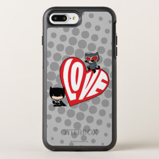 Chibi Catwoman Pounce on Batman OtterBox Symmetry iPhone 8 Plus/7 Plus Case