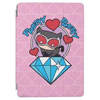 Chibi Catwoman Sitting Atop Large Diamond iPad Air Cover