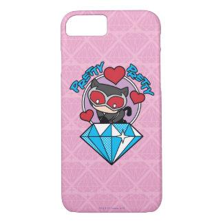Chibi Catwoman Sitting Atop Large Diamond iPhone 8/7 Case