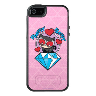 Chibi Catwoman Sitting Atop Large Diamond OtterBox iPhone 5/5s/SE Case