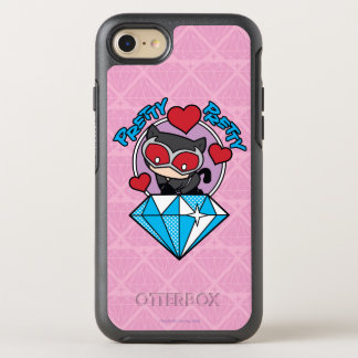 Chibi Catwoman Sitting Atop Large Diamond OtterBox Symmetry iPhone 8/7 Case