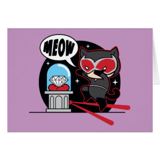 Chibi Catwoman Stealing A Diamond Card