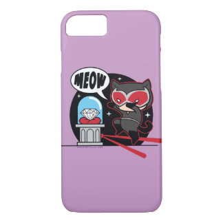 Chibi Catwoman Stealing A Diamond iPhone 8/7 Case