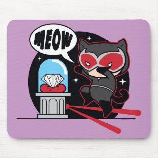 Chibi Catwoman Stealing A Diamond Mouse Pad