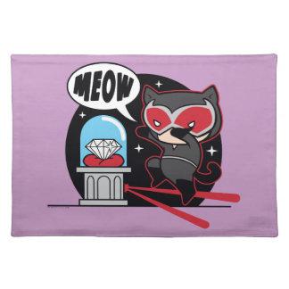 Chibi Catwoman Stealing A Diamond Placemat
