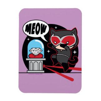 Chibi Catwoman Stealing A Diamond Rectangular Photo Magnet