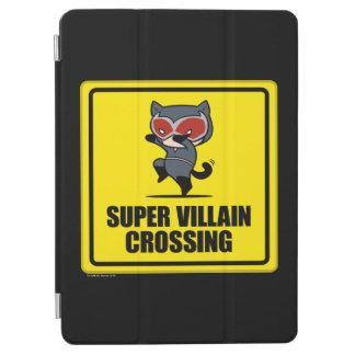 Chibi Catwoman Super Villain Crossing Sign iPad Air Cover