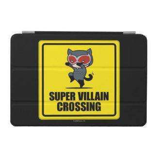 Chibi Catwoman Super Villain Crossing Sign iPad Mini Cover