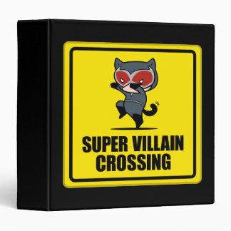 Chibi Catwoman Super Villain Crossing Sign Vinyl Binder