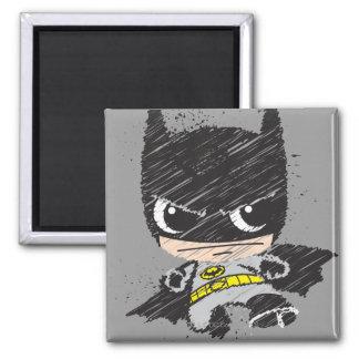 Chibi Classic Batman Sketch Square Magnet
