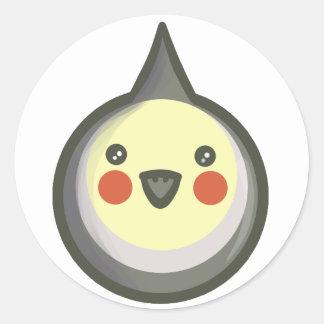 Chibi Cockatiel Classic Round Sticker
