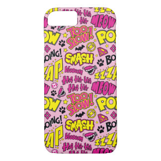 Chibi Comic Phrases and Logos Pattern iPhone 7 Case