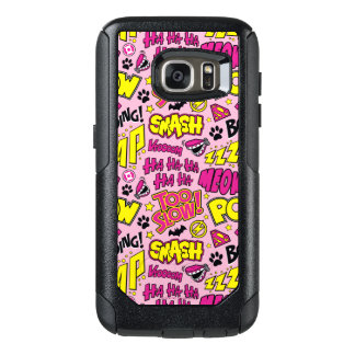 Chibi Comic Phrases and Logos Pattern OtterBox Samsung Galaxy S7 Case