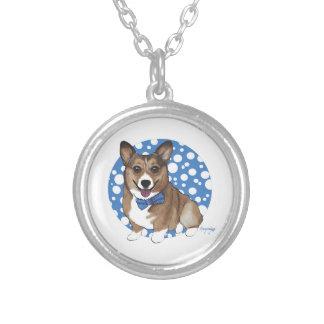 Chibi Corgi Silver Plated Necklace