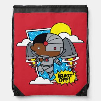 Chibi Cyborg Blast Off! Drawstring Bag