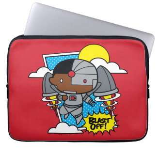 Chibi Cyborg Blast Off! Laptop Sleeve