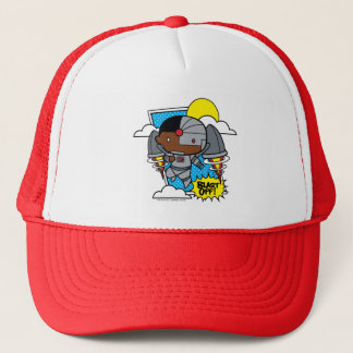 Chibi Cyborg Blast Off! Trucker Hat