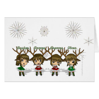 Chibi Deer Card