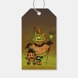 CHIBI DOLLS HALLOWEEN MONSTERS PINK GIFT TAG