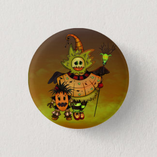 CHIBI DOLLS  HALLOWEEN MONSTERS SMALL BUTTON