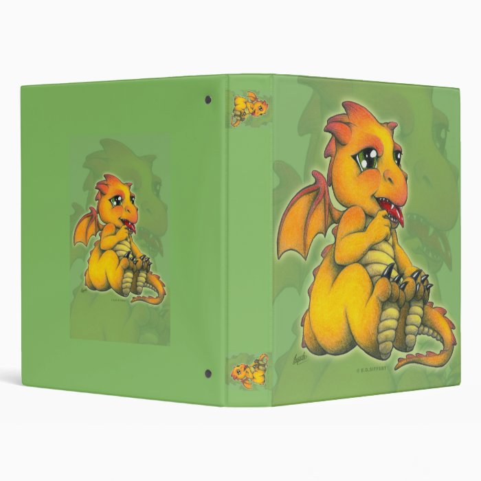 Chibi Dragon 3 Ring Binder
