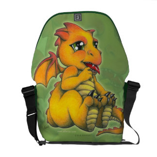 Chibi Dragon Courier Bags