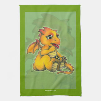 Chibi Dragon Kitchen Towel