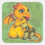 Chibi Dragon Square Sticker