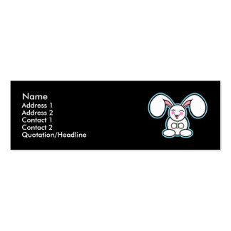 Chibi Easter Bunny - Black Business Card