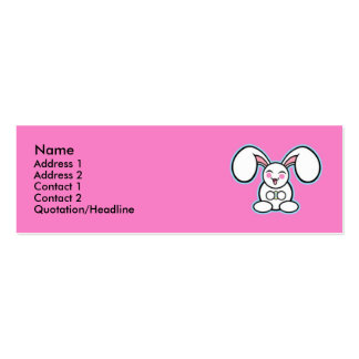 Chibi Easter Bunny - Pink Pack Of Skinny Business Cards