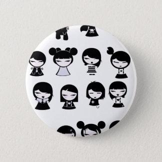 Chibi Emo Goth 2 Inch Round Button